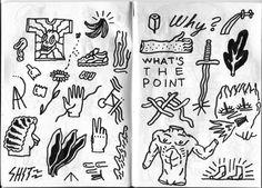 guyfield: on-the-phone doodlin