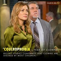 Rizzoli and Isles- I hate clowns