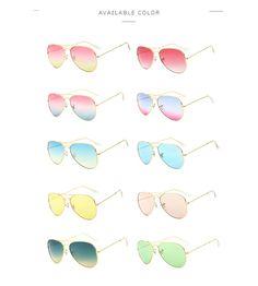 c7f7d90c3c Aliexpress unboxing Designer Women Sunglasses Pilot Sun glasses Sea  gradient shades