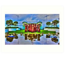 Reflections at the Princes Pier Art Print