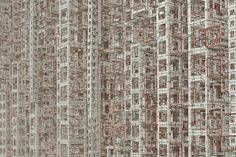 Japanese-born, New York-based artist Katsumi Hayakawa constructs densely layered sculptures that resemble, rather than replicate, overbuilt cityscapes.    Hayakawa erects boxes of varying heights along a grid, leaving voids in the volumes that create another level of complexity. Instead of reading as individual buildings, the structures form an abstract composition.
