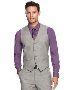 Love this look with the grey vest and purple shirt. Mister Penguin ...