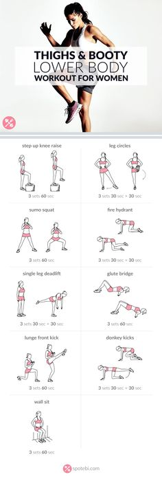 Sculpt your glutes, hips, hamstrings, quads and calves with this lower body workout. A routine designed to give you slim thighs, a rounder booty and legs for days! http://www.spotebi.com/workout-routines/lower-body-workout-thighs-booty-legs/ #weightloss
