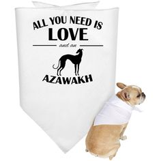 All You Need Is Love And An Azawakh Dog Bandanas