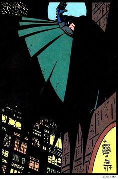 Alex Toth celebrating Batman: The Animated Series. Toth's designs heavily influenced the look of the series.