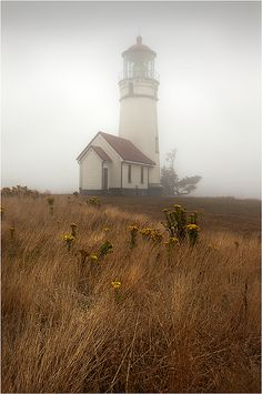 Oregon mist - lighthouse.