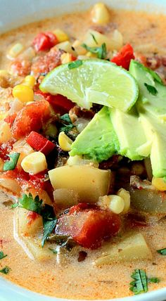Crock Pot Southwestern Corn & Potato Chowder (Dairy Free)