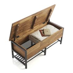 Teca Storage Trunk-Bench | Crate and Barrel