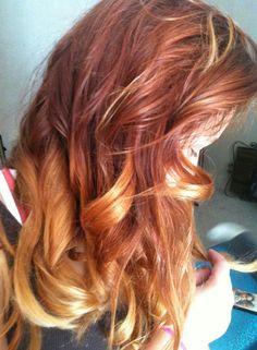Kenzi's red ombre hair. Beautiful!
