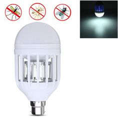 E27 B22 7W Anti-Mosquito Electronic Insect Flying Zapper LED Light Bulb AC110V