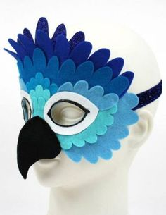 Blue bird costume etsy 59 new ideas The Effective Pictures We Offer You About Birds vector A quality picture can tell you many things. Theme Carnaval, Parrot Costume, Bird Costume Kids, Bird Masks, Felt Mask, Elastic Headbands, Blue Glitter, Diy Costumes, Costume Ideas