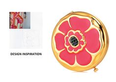 Estee Laudet - Limited Edition - 2008 Compact Winter Nordstrom Poppy