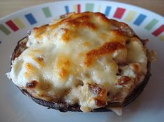Bacon and Cheese Stuffed Portobello Mushrooms-low carb