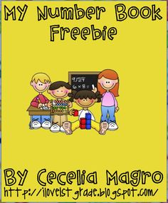 """FREE MATH LESSON - """"My Number Book Freebie"""" - Go to The Best of Teacher Entrepreneurs for this and hundreds of free lessons."""