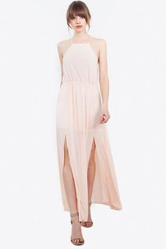 Women's Dress - Peach Fuzz Maxi Dress