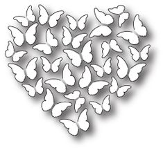 Memory Box Butterfly Heart Die. 100% steel craft die from Memory Box featuring a Butterfly Heart. For use on cardstock, felt, and fabric. Cut, stencil, emboss,
