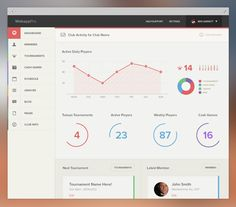dashboard interface on 60 Flat Web UI Design Inspiration Design Web, Game Design, Flat Design, Design Blogs, Logo Design, Graphic Design, Dashboard Ui, Dashboard Design, Sales Dashboard