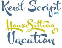 Very cute Kewl Script font!!
