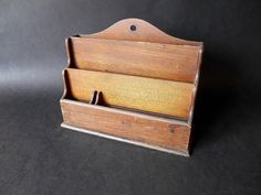 Antique Letter Holder Storage Container Sorter by SecretsOfThePast