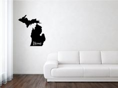 Michigan State, Michigan State Decal, States, United States, State Decal, Vinyl, Adhesive Vinyl, Removable Vinyl, Matte Vinyl, Decals by wildoakvinyl on Etsy
