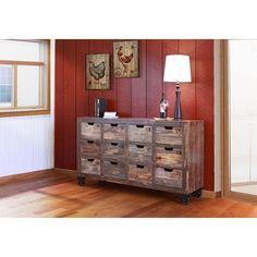 Multi-Drawer Console in Lacquer | Nebraska Furniture Mart