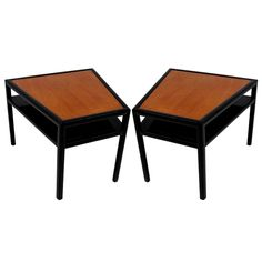 Michael Taylor Trapezoidal Side Tables for Baker