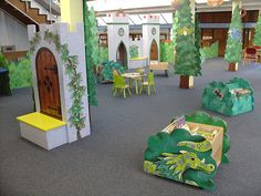 Children's Library    It's a magical kingdom in the children's library at Wath