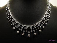 Victorian diamond necklace Mid 19th century (C)REGARD Co.,Ltd. 19th Century, Victorian, Diamond, Day, Jewelry, Fashion, Jewellery Making, Moda, Jewelery