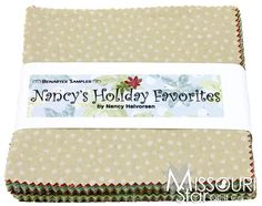 Nancy Halvorsen Christmas Favorites | Nancy's Holiday Favorites Charm Pack - Nancy Halvorsen - Benartex