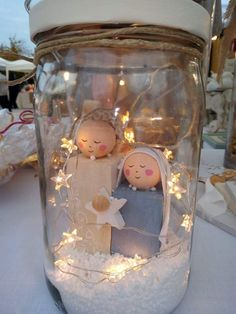 Mason jar nativity scene with star lights. – jar Lights Mason nativity scen… Mason jar nativity scene with star lights. – jar Lights Mason nativity scene s - cakerecipespins. Nativity Crafts, Christmas Projects, Holiday Crafts, Nativity Ornaments, Nativity Scenes, Felt Ornaments, Mason Jar Crafts, Mason Jar Diy, Mason Jar Christmas Crafts