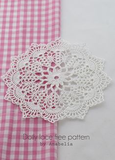 FREE DIAGRAM ~ Crochet doily by Anabelia, with chart