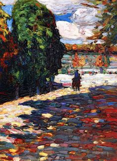 Park of St Cloud - With Horseman Wassily Kandinsky - 1906