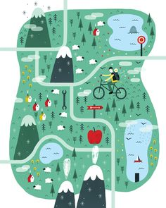 Map by Pau Morgan #illustratedmap
