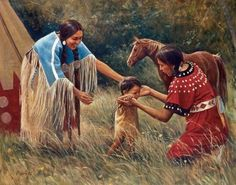 Native American Family It takes a village to raise a children. That's why I love their culture and not mine Native American Children, Native American Wisdom, Native American Pictures, Native American Artwork, Native American Beauty, Indian Pictures, American Indian Art, Native American History, Native American Indians