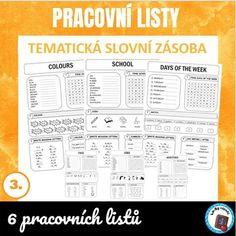 Tematická slovní zásoba - pracovní listy | LesyNápadů.cz School Days, Bullet Journal, Colours