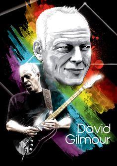 David Gilmour ~ Pink Floyd series by Michael Petrus, via Behance