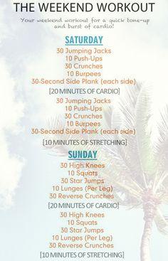 Weekend Beach Workout