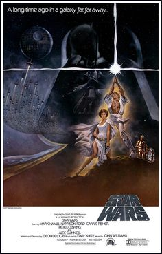 The Force is strong with this great Star Wars poster from Episode I: A New Hope…