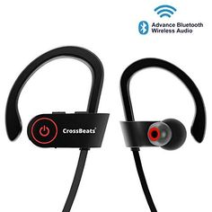 0a3c23db5b4 CrossBeats Raga Wireless Bluetooth Earphones with Microphone IPX-4  Sweatproof Sports Design with Carry Case
