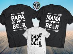 Online store for matching couples shirts, family custom shirts and single tees. King Queen Couples shirts and our bestseller Drinking for 3 eating for 2 pregnancy announcement shirts Family Tees, Disney Shirts For Family, Disney Family, Matching Family Outfits, Matching Shirts, Vinyl Shirts, Kids Shirts, The Bear Family, Mamas And Papas