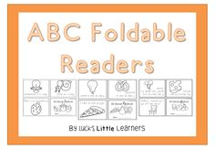 ABC Foldable Readers - phonics focus - one page readers