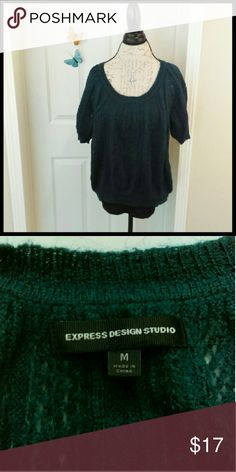 ❤️Express teal sweater In perfect condition. Great to wear all winter long. From a smoke and pet free home. I ship fast!  *Bundle and save 10%  *No trades  *All offers considered Express Sweaters Crew & Scoop Necks
