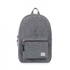 Herschel Supply Co. Settlement Backpack (Raven Crosshatch) ($72) ❤ liked on Polyvore featuring men's fashion, men's bags, men's backpacks and mens leather backpack