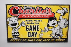 Hallmark Peanuts Charlie's Clubhouse Game Day Metal Decor Wall Sign  | Collectibles, Animation Art & Characters, Animation Characters | eBay!