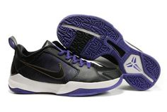 Ken Griffey Shoes Nike Zoom Kobe 5 Black Varsity Purple White [Nike Zoom Kobe 5 - The primarily black and varsity purple colored base is very nice to say the least, yet, the contrast white is seen on the midfoot and outsole. Nike Shoes, Sneakers Nike, Nike Zoom Kobe, Nike Foamposite, Ken Griffey, White P, Kobe Bryant, White Nikes, Air Jordans