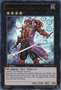 The Six Samurai Nisashi X 3 1st Mint YUGIOH Cards SDWA-EN005