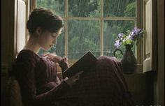 Becoming Jane, window nook book-reading