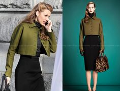 THE AGE OF ADALINE: ADALINE'S GREEN CROPPED JACKET