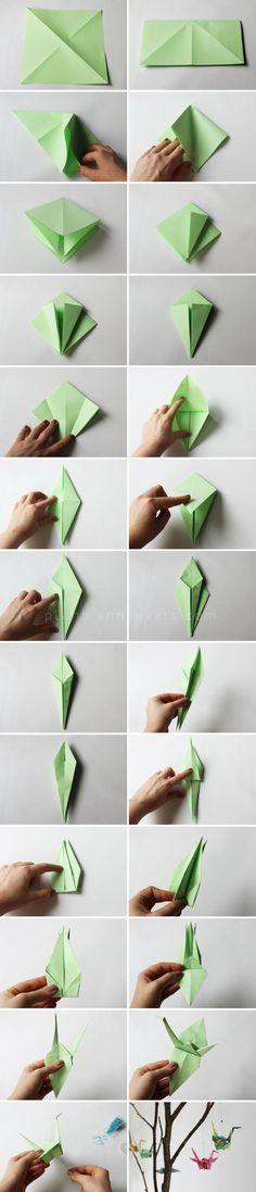 Plan B anna evers DIY Origami bird: