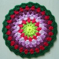 Crochet Mandala Wheel made by Freida, Norfolk, UK, for yarndale.co.uk   ...  *  ♡